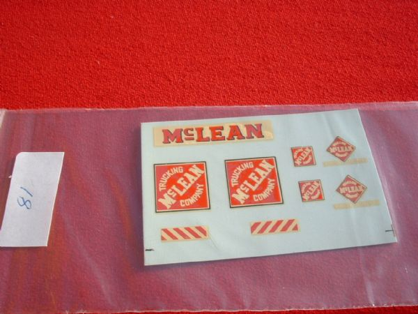 "Dinky Toys 948 MCLEAN ""Trucking Mclean Company"" TRANSFERS / DECALS"